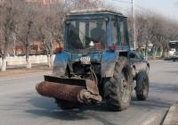 Коммунальная уборочная машина на базе трактора МТЗ-80 #6623 ТС 72. Тюмень, Ямская улица