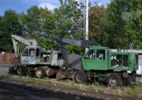 Экскаваторы Fortschritt T-174 на одной из ж.д. станций на линии Пльзень - Прага . Чехия
