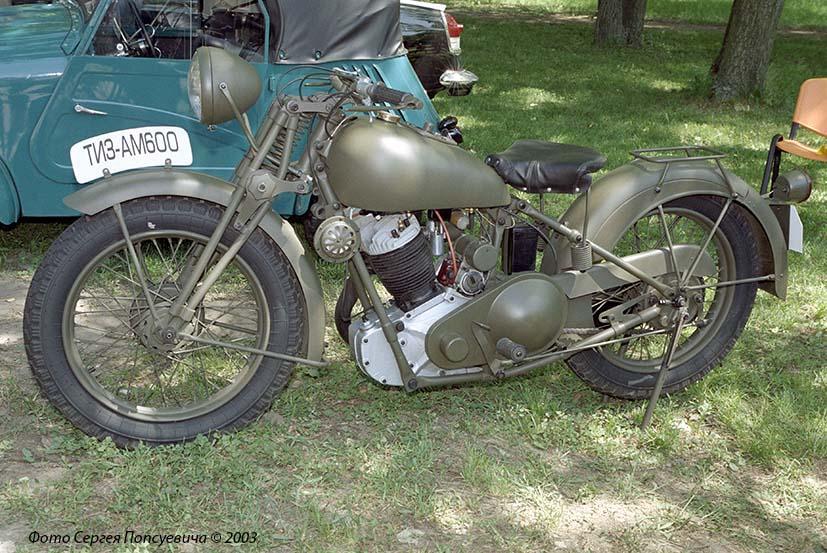 Военный мотоцикл ТИЗ-АМ-600. SIA-2003.. Киев, ВДНХ У.