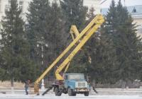 Автоподъёмник АГП-22 на шасси ЗиЛ-433362 #Н 389 МО 59. Курган, площадь имени В.И. Ленина