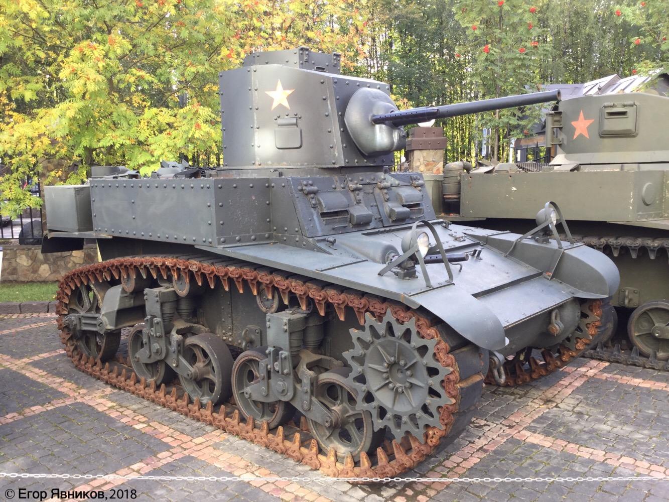 Американский лёгкий танк M3A1 Stuart с башней D37182. Московская область, Ильинское шоссе 4-ый км (Музей техники Вадима Задорожного)