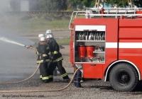 Пожарная автоцистерна АЦ-40(5233Н2)-268-01 на шасси КрАЗ-5233Н2 № т1 ОС 5615. . Полтавская область, Кременчуг. Демонстрационно -испытательный полигон КрАЗ.