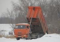 Самосвал КамАЗ-45147 на шасси КамАЗ-65115-N3 #К 750 КВ 45. Курган, Молодёжный парк