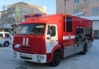 Пожарная автоцистерна СПАСА 6(4308) [282028] на шасси КамАЗ-4308 #Х 006 КН 45.  Курган, улица Куйбышева