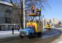 Автоподъемник для ремонта контактной сети на шасси автомобиля ГАЗ-53-12. Приднестровье, Тирасполь, Каховская улица