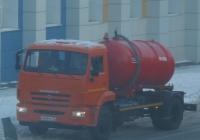 Вакуумная машина КО-520А на шасси КамАЗ-43253 #О 269 УС 72.  Курган, улица Куйбышева