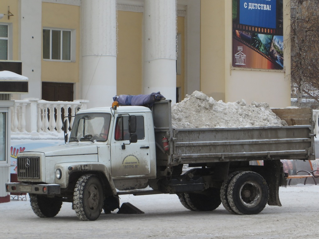 Самосвал ГАЗ-САЗ-3507 на шасси ГАЗ-33072 #К 339 АР 45.  Курган, улица Гоголя