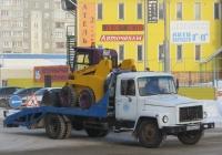 Эвакуатор на шасси ГАЗ-3307 #М 354 КК 45.  Курган, улица Кравченко