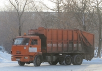 Мусоровоз МКЗ-4801-01 на шасси КамАЗ-65115 #М 843 КХ 45.  Курган, Городской сад