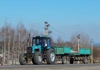 Трактор Беларус-1221* # 9270 ЕЕ 31 с прицепом # 6118 ЕР 31. Белгородская область, г. Алексеевка, пер. Острогожский