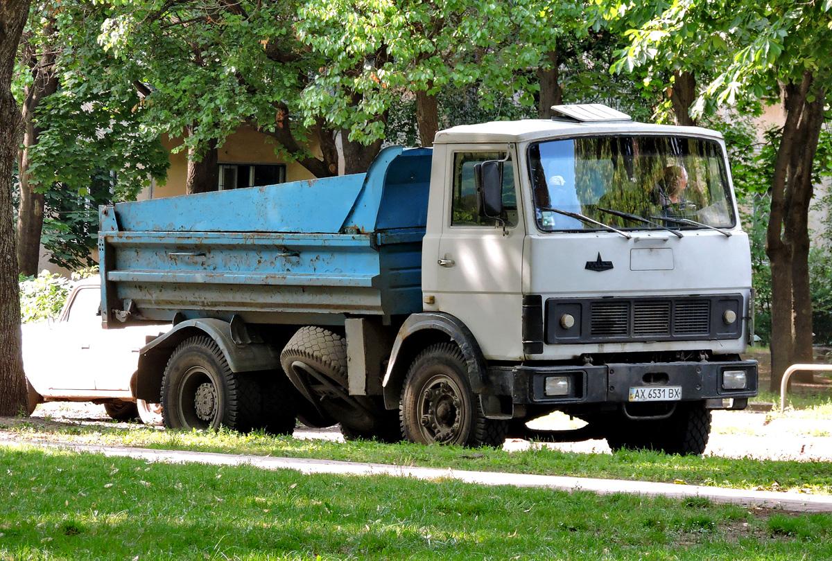 Самосвал  МАЗ-5551 #АХ 6531 ВХ. Харьковская область, г. Харьков, Салтовское шоссе