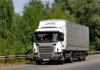 Седельный тягач Scania G380 #АА 3058 КА. Харьковская область, г. Чугуев, автотрасса М-03