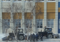Коммунальные машины на базе тракторов Беларус-82.1 (МТЗ-82.1).  Курган, улица Куйбышева