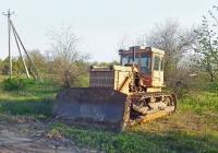 Гусеничный бульдозер на шасси трактора Т-130. Херсонская область, Белозёрский район, автодорога Т1501