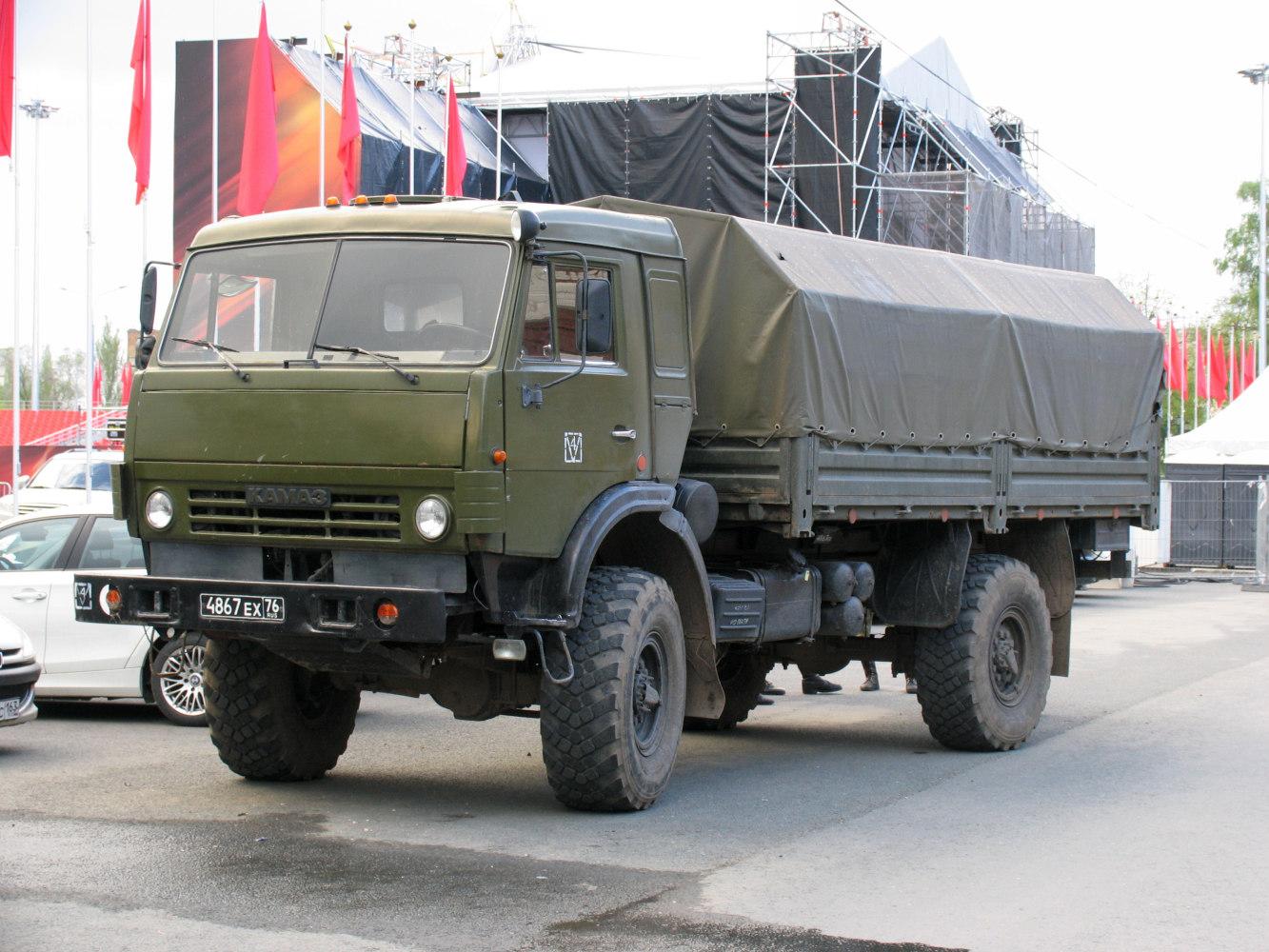 бортовой грузовой автомобиль повышенной проходимости КамАЗ-4326 #4867ЕХ76. г. Самара, ул. Чапаевская