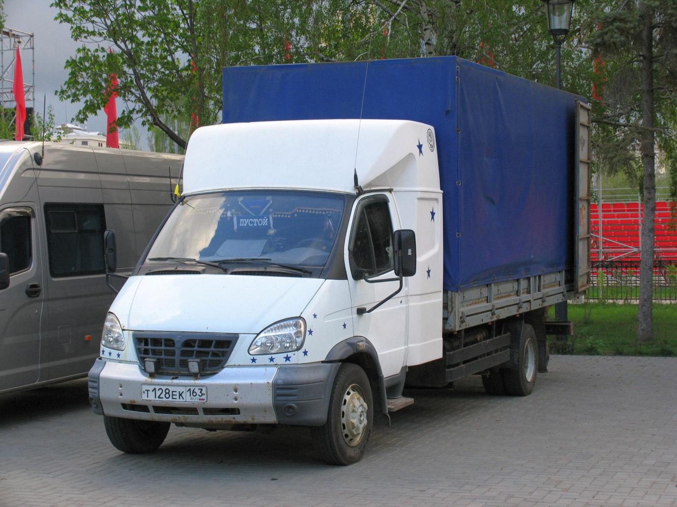 бортовой грузовой автомобиль ГАЗ Валдай ГАЗ-3310* #Т128ЕК163. г. Самара, пл. им. В. В. Куйбышева