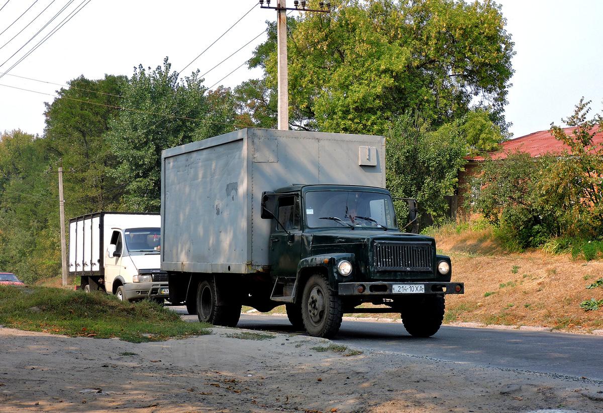 Фургон на шасси ГАЗ-3307 #214-10 ХА. Харьковская область, г. Чугуев, Крепостной спуск