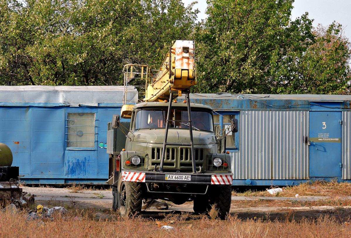 Автоподъёмник ВС-222-01 на шасси ЗиЛ-131НА #АХ 6600 АЕ. Харьковская область, пгт. Малиновка