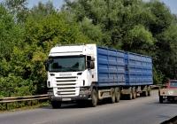 Бортовой грузовик Scania R420 #АА 0843 МО. Харьковская область, г. Чугуев, автотрасса М-03