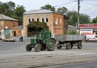 Трактор Т-40АМ #05323 ТН с прицепом. Харьковская область, г. Харьков, Москалевская улица