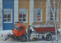 Комбинированная дорожная машина МД-43253 на шасси КамАЗ-43253 #А 813 КХ 45.  Курган, улица Куйбышева