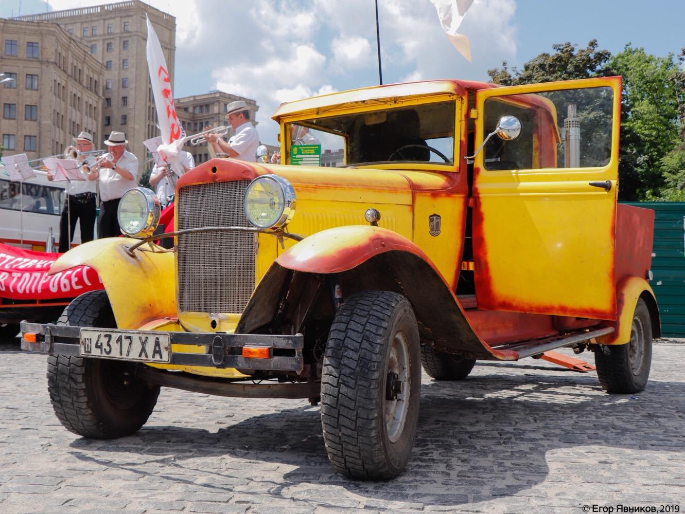 Пикап ГАЗ-4 (возможно, что это реплика), #ш4317ХА. Харьковская область, г. Харьков, площадь Свободы