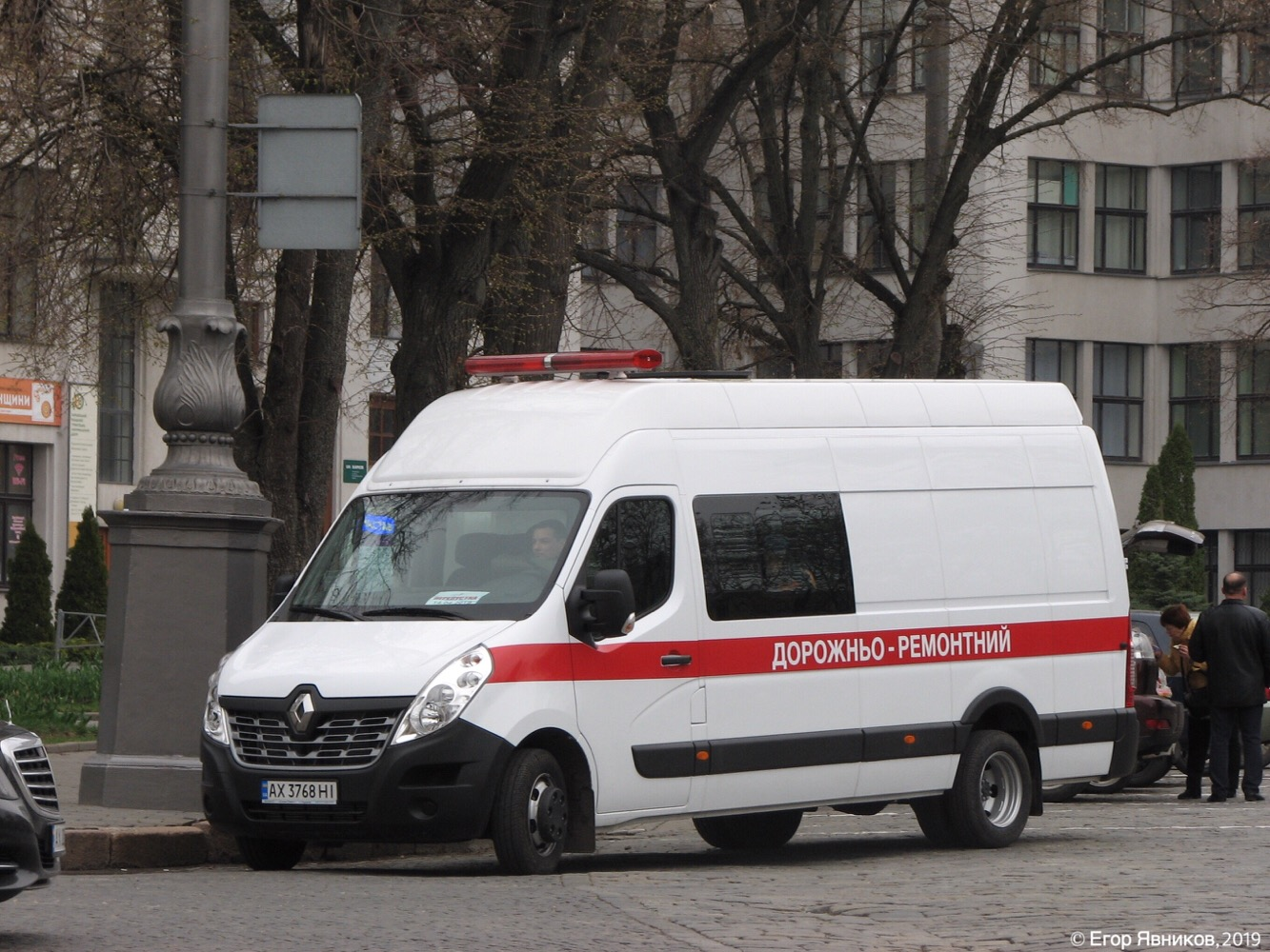 Микроавтобус дорожной службы Renault Master, #АХ3768НI. Харьковская область, г. Харьков, площадь Свободы