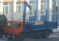Бортовой грузовик с КМУ на шасси КамАЗ-65115 #У 444 КК 45.  Курган, улица Куйбышева