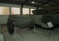 прицеп для транспортировки огнесмеси к огнеметному танку Churchill Crocodile. Московская область, пос. Кубинка, музей бронетанковой техники