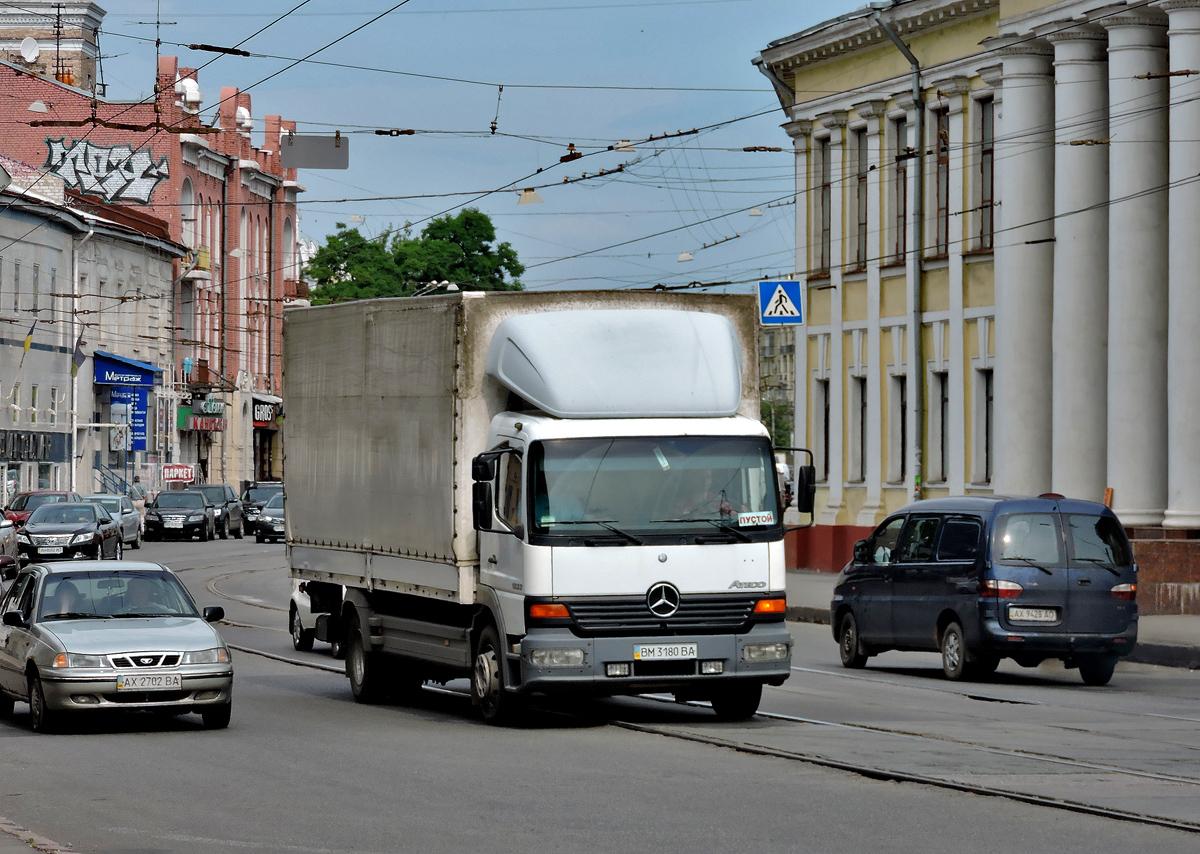 Бортовой грузовик  Mercedes-Benz Atego #ВМ 3180 ВА. Харьковская область, г. Харьков, Московский проспект