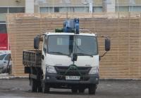 Бортовой грузовик с КМУ СпецМобиль-НН 38787-0000010-91 на шасси Hino 300 #В 106 КМ 45.  Курган, Троицкая площадь