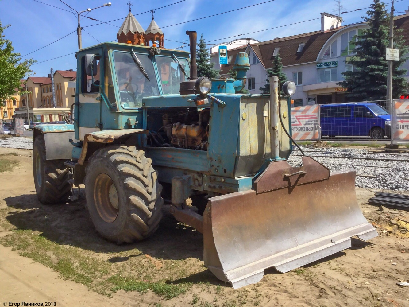 Трактор Т-150КД-09 с бульдозерным отвалом, #05375АХ. Харьковская область, г. Харьков, улица Шевченко