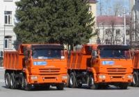 Самосвалы КамАЗ-65115. Курган, площадь имени В.И. Ленина