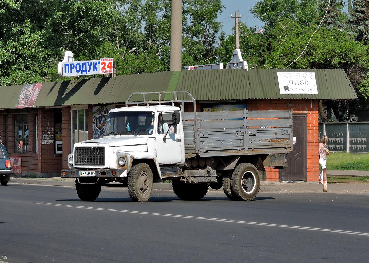 Бортовой грузовик  ГАЗ-3307 #АХ 3498 ВС. Харьковская область, г. Харьков, Салтовское шоссе