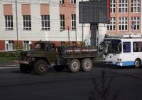 Урал-375Д. Омская область, Омск, улица Гагарина