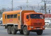 Вахтовый автобус Промавто 4237В2 на шасси КамАЗ-43118 #С 127 МА 45. Курган, Станционная улица