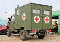 Военный санитарный автомобиль на базе Tarpan Honker IVECO. ul.Gzichowska, Бендзин, Польша