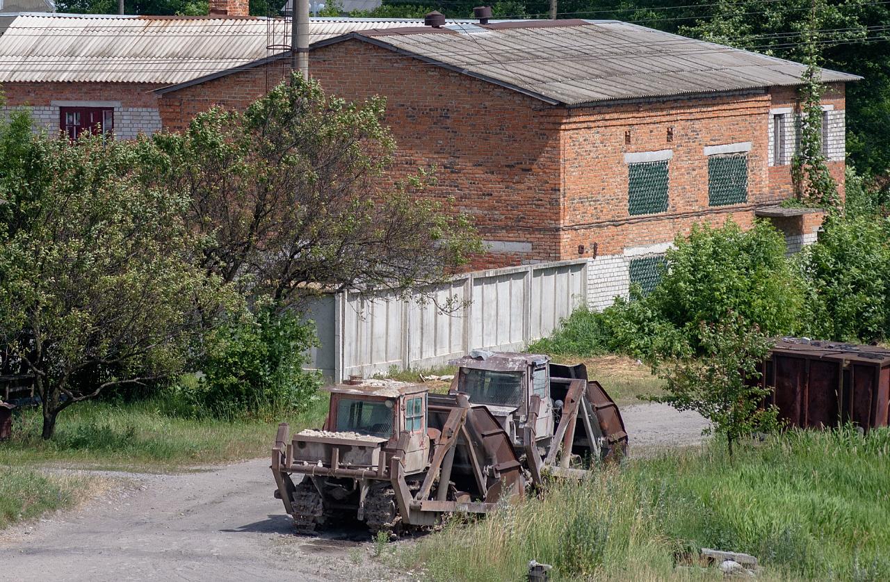Фронтально-перекидной погрузчик ПТС-77 на базе ДТ-75ВР. Винницкая область, Вапнярка