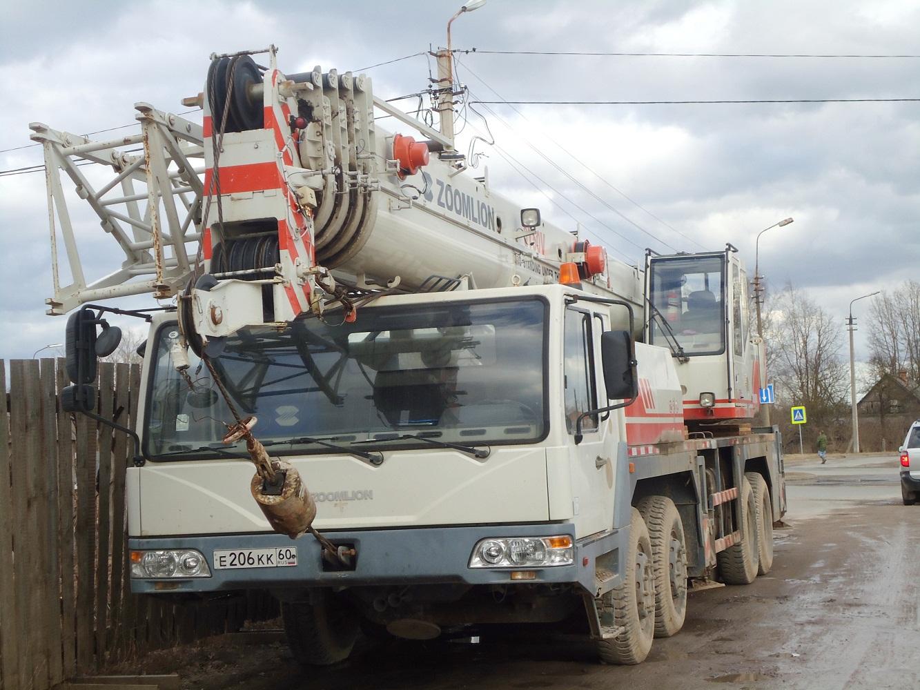 Автокран Zoomlion ZLJ5419JQZ50V #Е 206 КК 60. Псков, улица Белинского