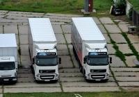 Изотермические фургоны на шасси Volvo FH #АХ 5041 СК и  #АХ 5042 СК. Харьковская область, г. Харьков, Домостроительная улица