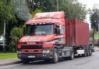 Седельный тягач Scania T 144G 460 #525 MKR. Псков, улица 128-ой Стрелковой Девизии
