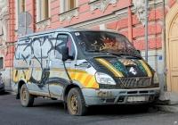 """Микроавтобус ГАЗ-2217 """"Соболь Баргузин"""" #У 918 PC 98. наб. реки Фонтанки 42, Санкт-Петербург, Россия"""