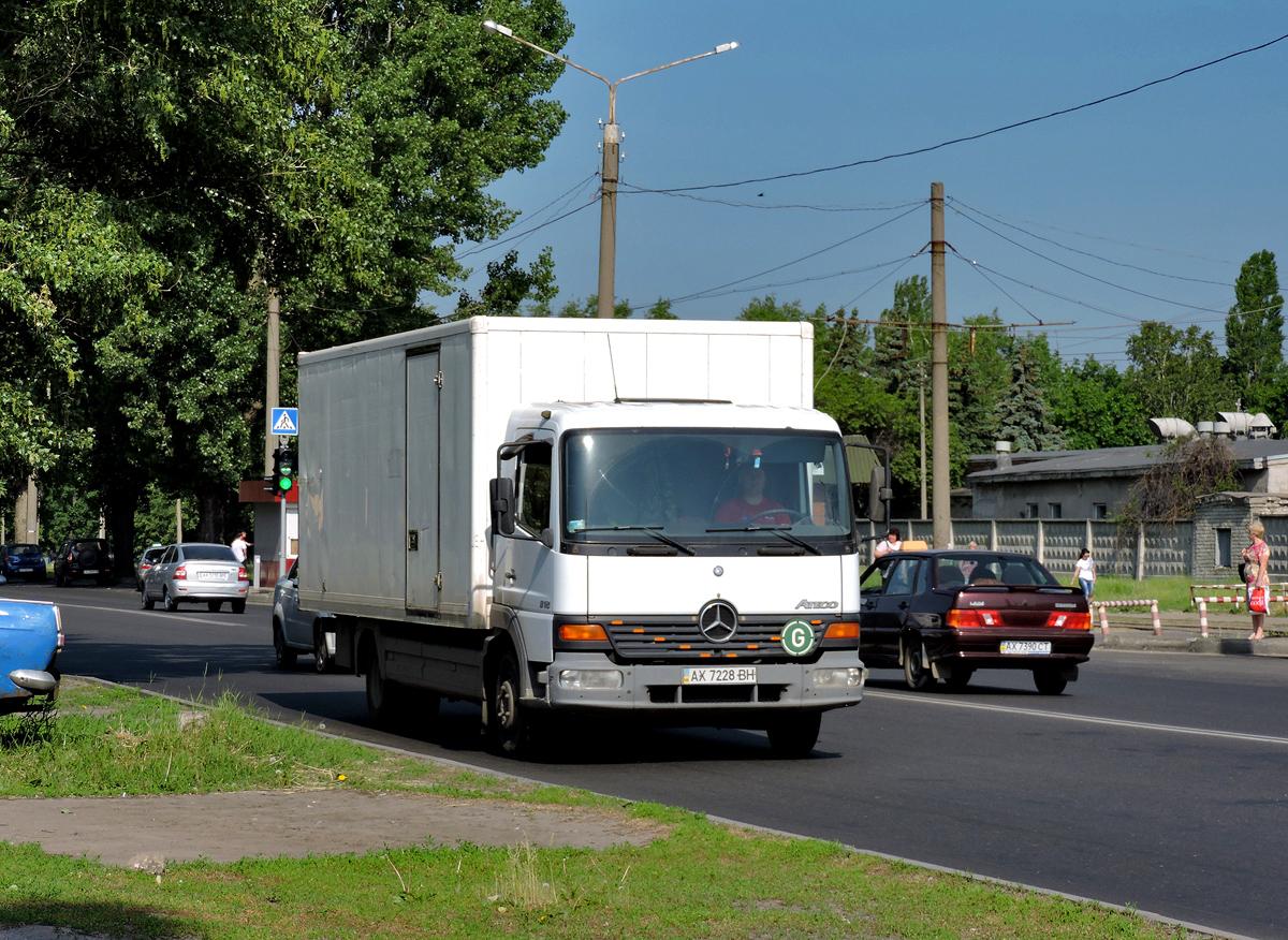 Изотермический фургон на шасси Mercedes-Benz Atego  #АХ 7228 ВН. Харьковская область, г. Харьков, Салтовское шоссе