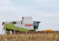 Зерноуборочный комбайн Claas Lexion 480 Evolution с жаткой John Greaves. Харьковская область, село Черняки