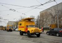 Автоподъёмник для ремонта контактной сети АП-7М на шасси ЗиЛ-431412 #К 851 ВО 77. Москва, улица Даниловский Вал