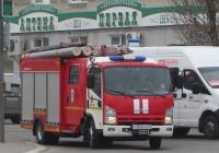 Пожарная автоцистерна АПС-1,0-40/2(NPR75L)-023-МИ-А01 [P5A231] на шасси Isuzu Rus #У 003 КО 45. Курган, улица Ленина