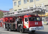 Пожарная автолестница АЛ-50(65115)ПМ-513Б на шасси КамАЗ-65115 #М 045 КО 45. Курган, улица Куйбышева
