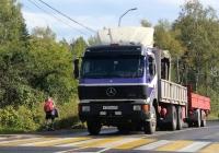 Бортовой грузовик с КМУ Mercedes-Benz SK 2550L #Р 755 КВ 60. Псков, улица Карбышева