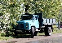 Самосвал ГАЗ-САЗ-3507 на шасси ГАЗ-53-14 #Н 281 АТ 60. Псков, улица Карбышева