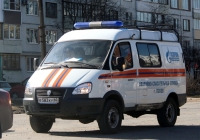 Спасательный фургон МЧС ГАЗ-27527 Соболь #Е 583 КУ 60. Псков, Индустриальная улица